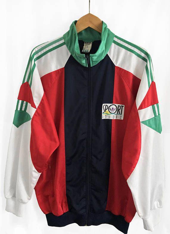 1dcac681b532 RARE Vintage 90 S Adidas Trefoil Windbreaker Tracksuit Top Jacket ...
