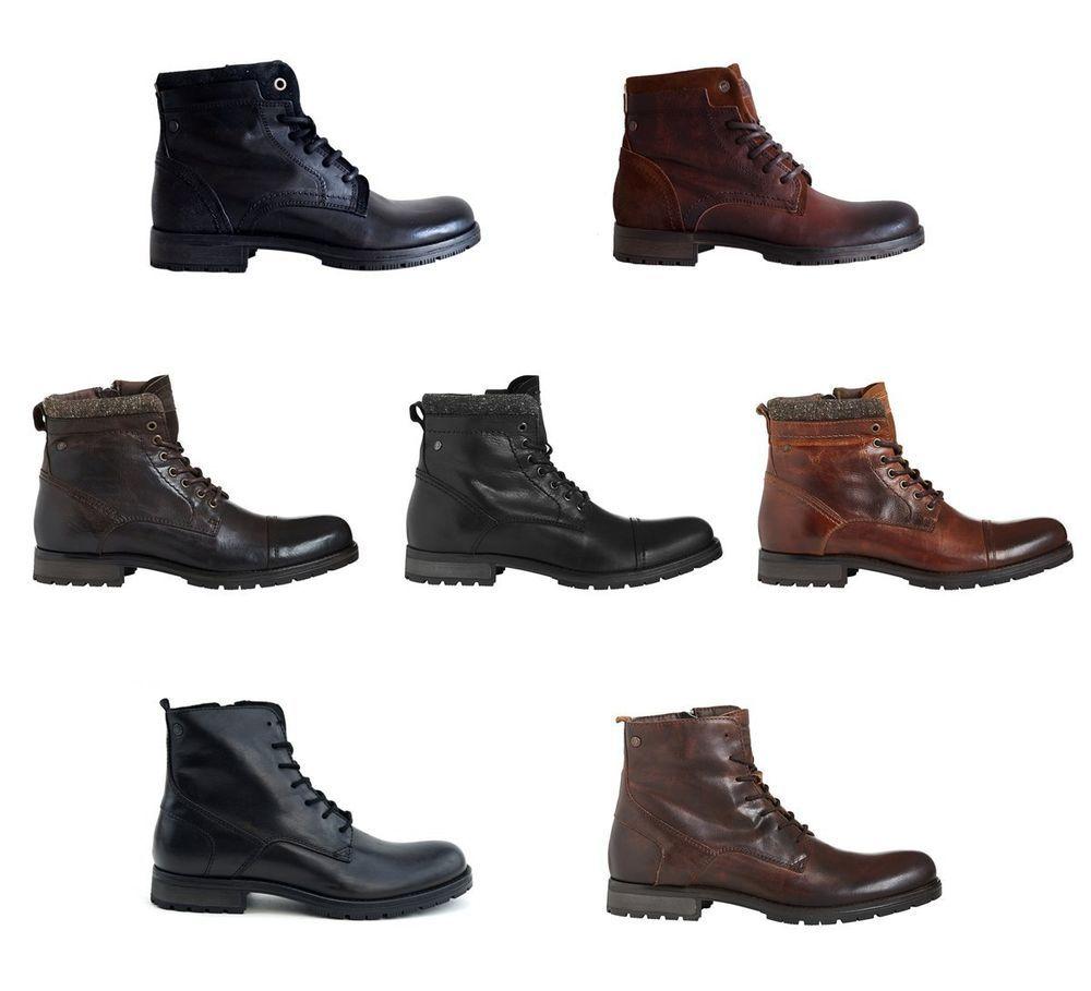premium selection 7a9a7 e6ac3 Jack & Jones Schuhe Boots Jfw Stiefel Boots Lederstiefel ...