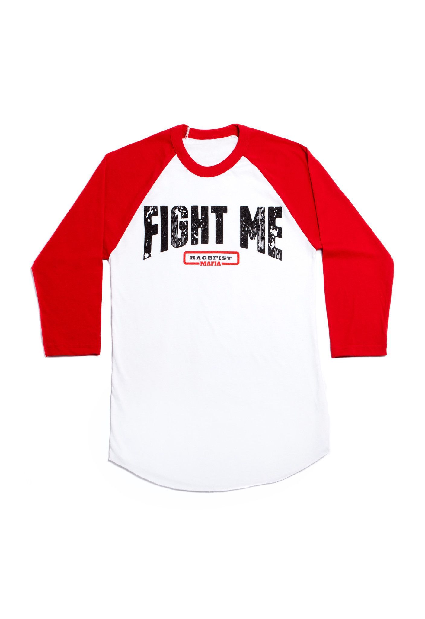 FIGHT ME RAGEFIST MAFIA 3/4 Sleeve Red & White Shirt | FIGHT ME ...