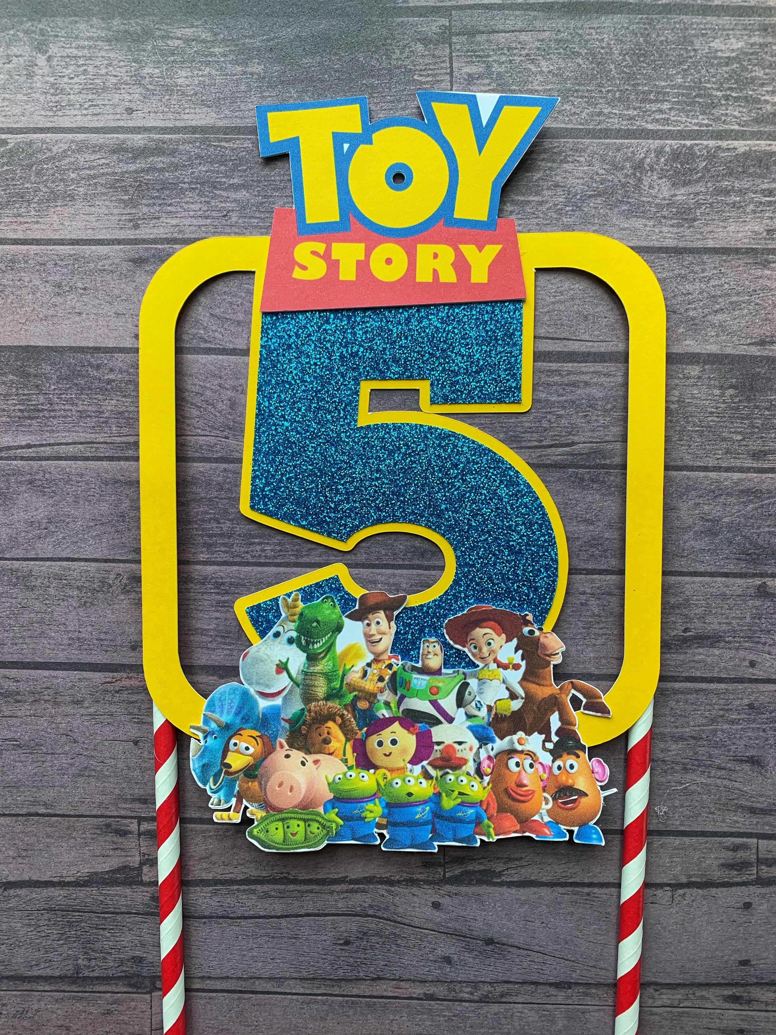 Toy Story Cake Topper | Toy Story Birthday Decor (With ...