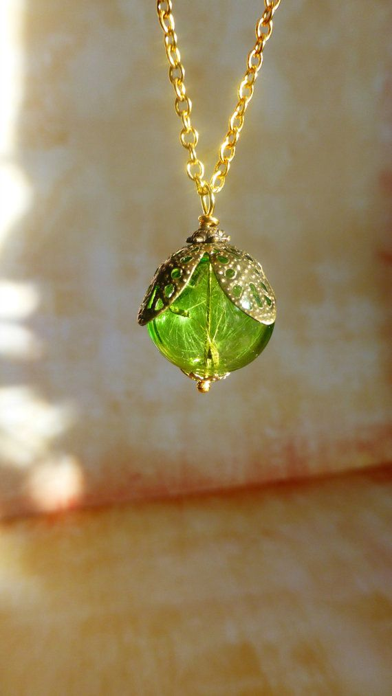 Hey, I found this really awesome Etsy listing at https://www.etsy.com/listing/174145616/dandelion-pendant-seed-necklace-green
