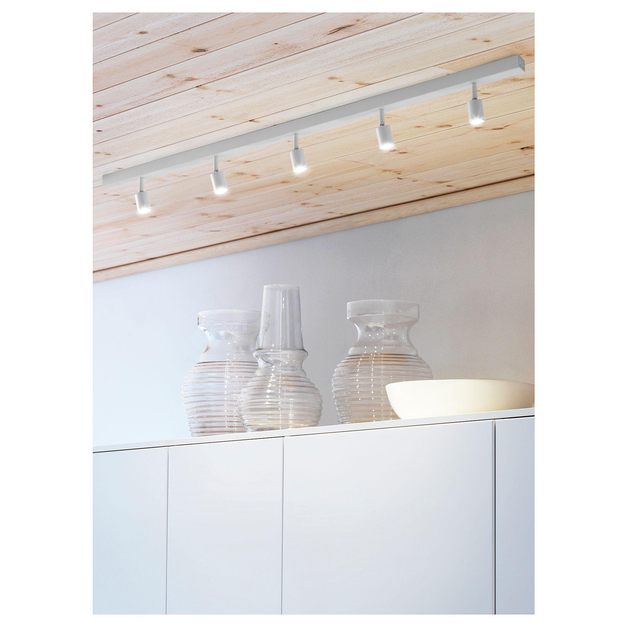 bÄve rail pour plafond led, 5spots, blanc   architecture d'intérieur
