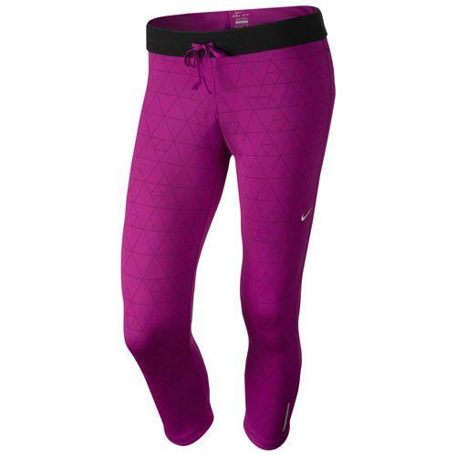 Nike Relay Capris - Women's - Running - Clothing - Bright Magenta/Red  Violet/