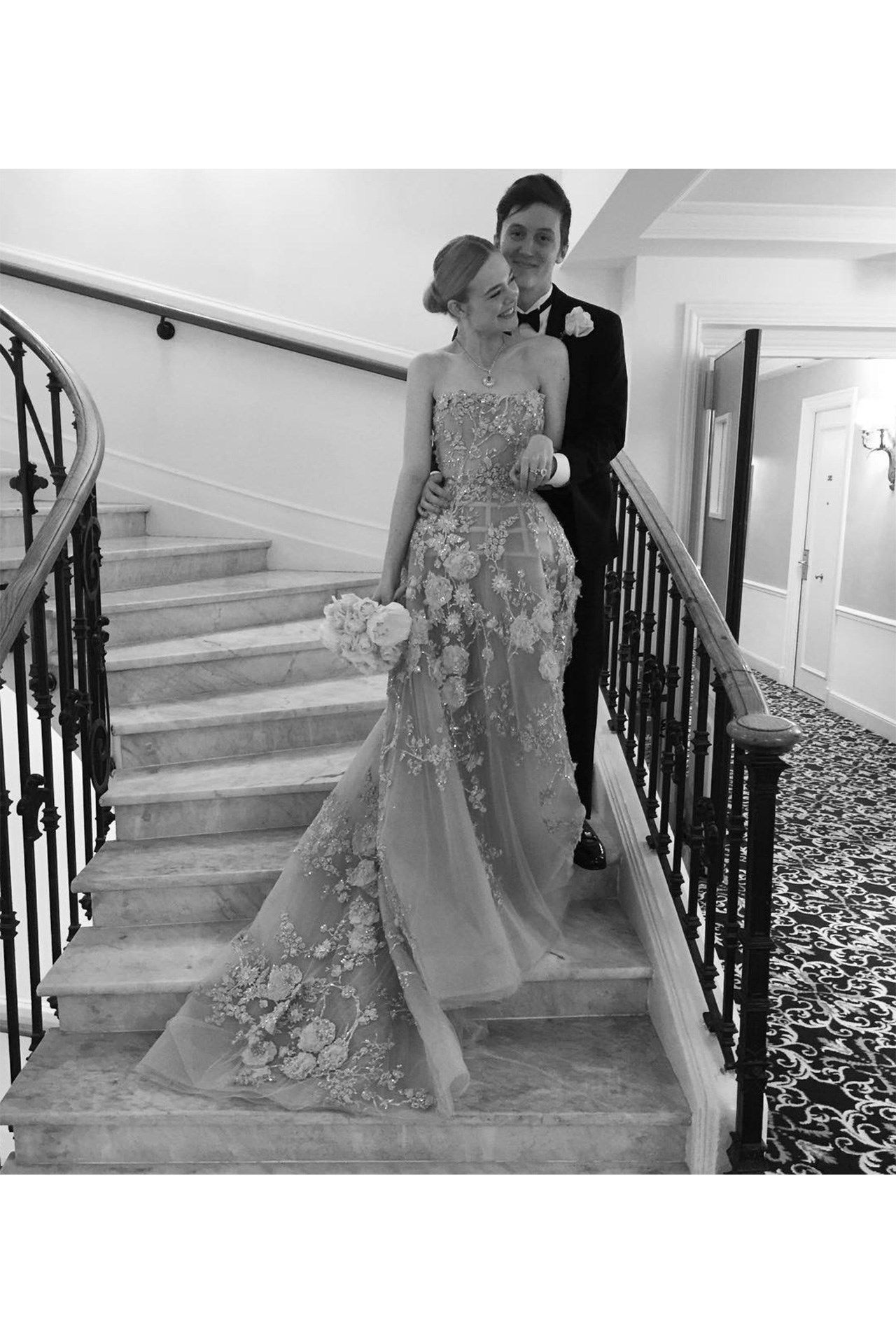 See how Elle Fanning had her dream prom even thought she was the other side of the world....