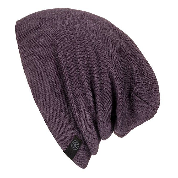 Evony Warm Slouchy Beanie Hat - Deliciously Soft Daily Beanie In Fine Knit  (Eggplant) 643380e39ee3