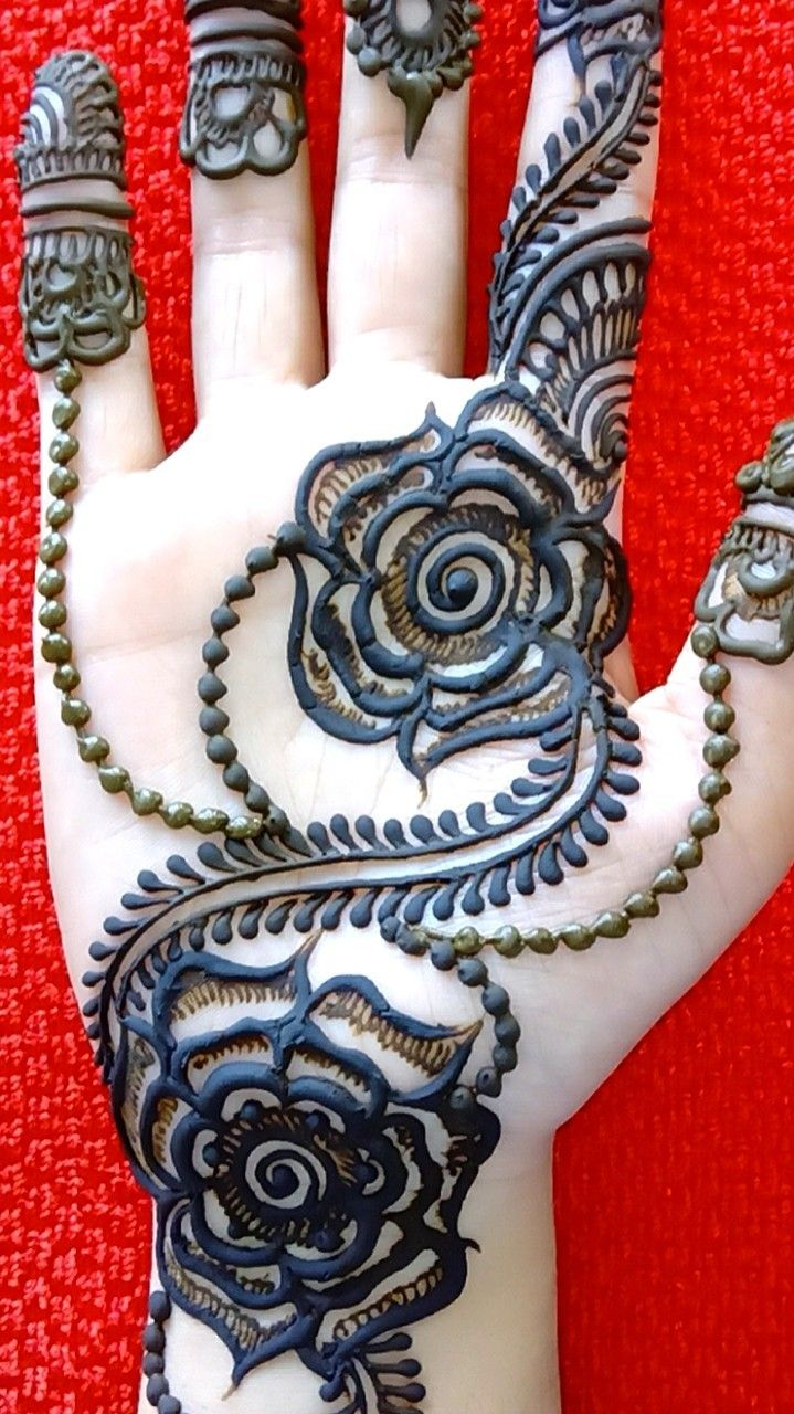 Latest Hartalika Mehndi designs for hands / mehandidesigns simple arabic