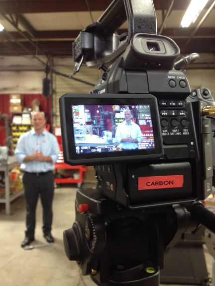 """Brandware was on-site this week at @okabashi for a video shoot with """"This Built America."""" Keep an eye out for the segment online!"""