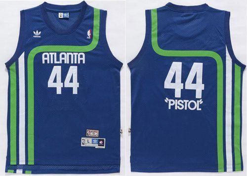 Hawks  44 Pete Maravich Light Blue