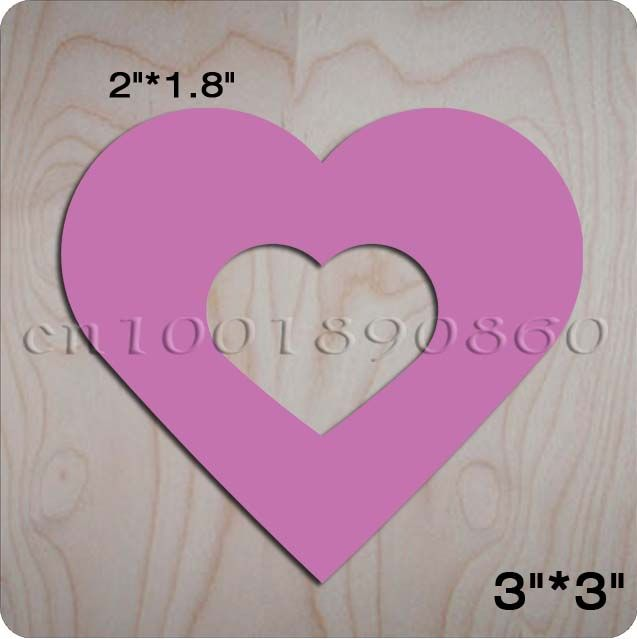 Powder heart multi-purpose use Scrapbook & Wooden dies for scrapbooking, fit sizzix bigshot machine