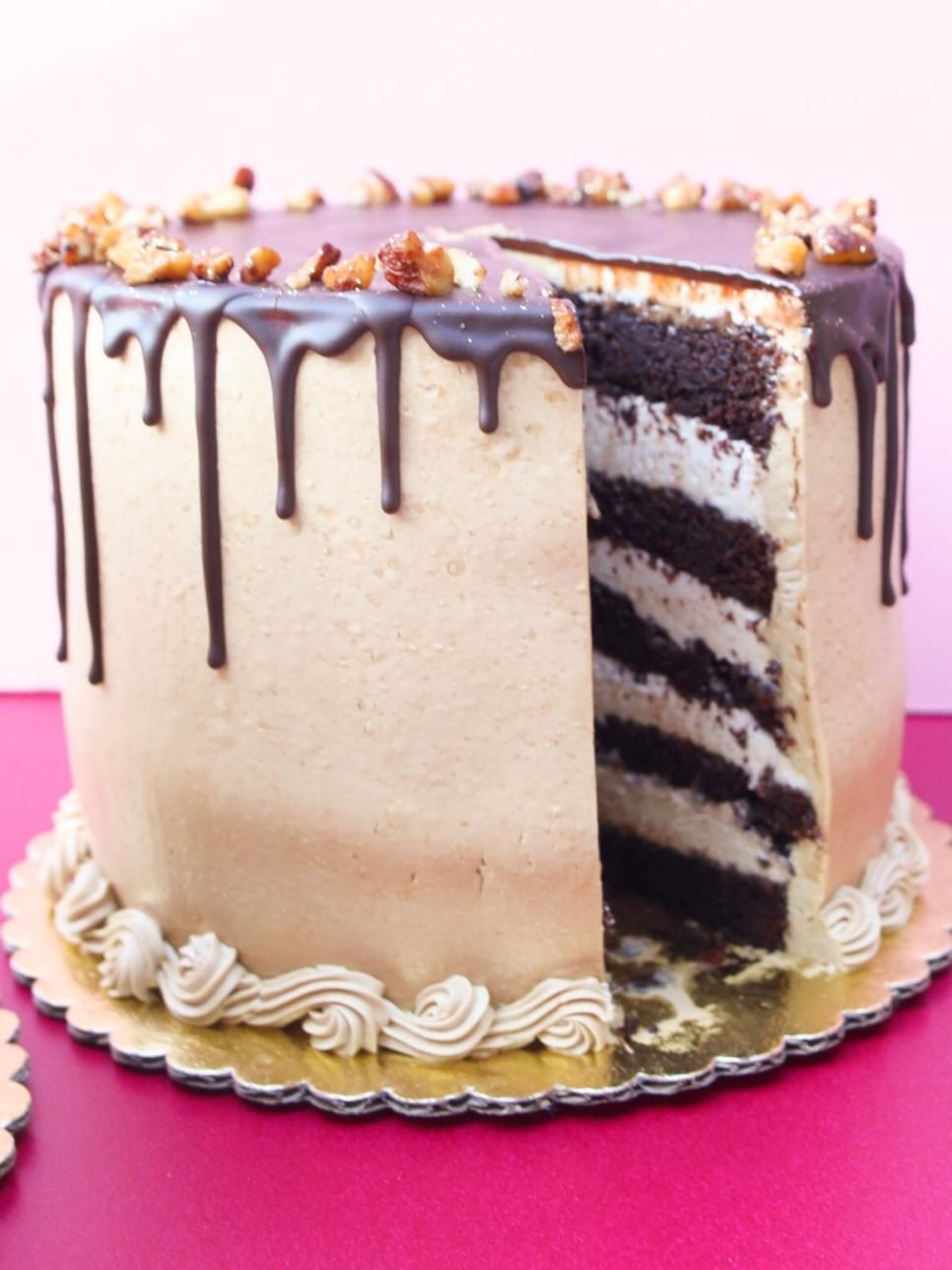 Tall, Dark & Handsome. Boasts multiple layers of chocolate