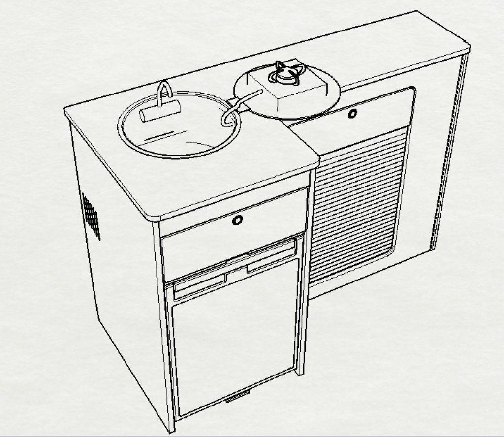 Evo 1300 Kitchen Pod Curved Kitchen Appliances Design Remodeled Campers