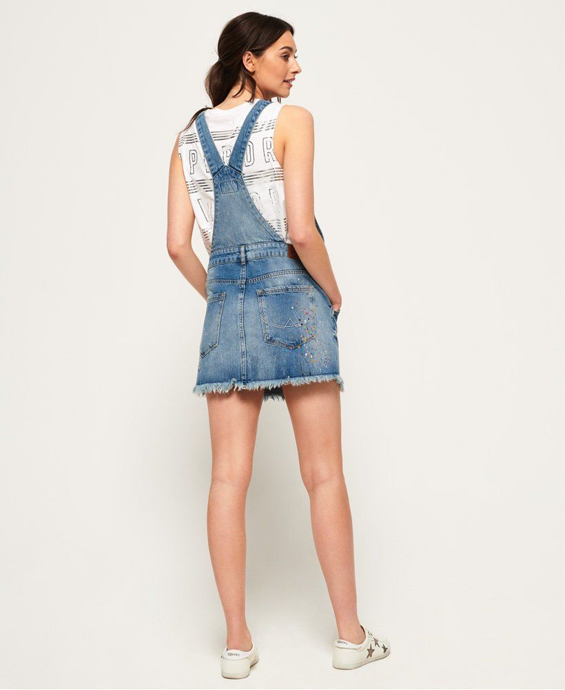Superdry Womens Denim Dungaree Dress