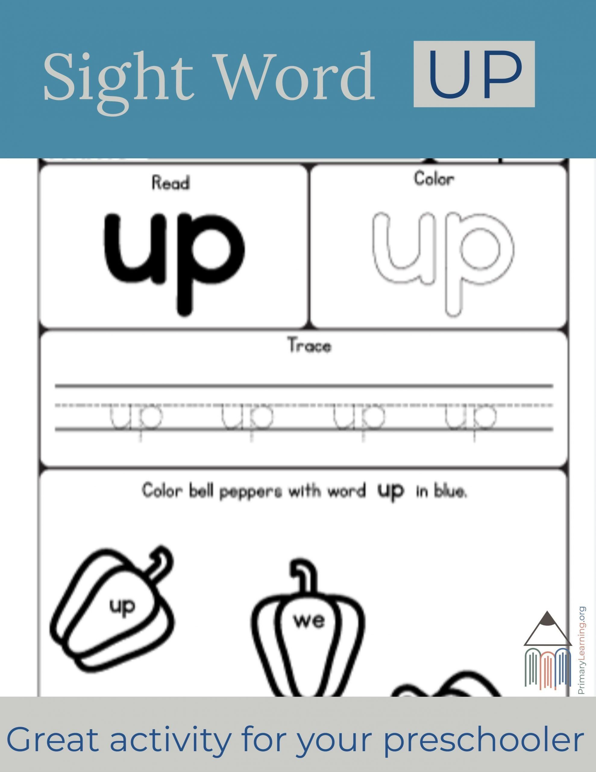 We Sight Word Worksheet Sight Word Up Worksheet Sight Word Worksheets Sight Words Learning Sight Words