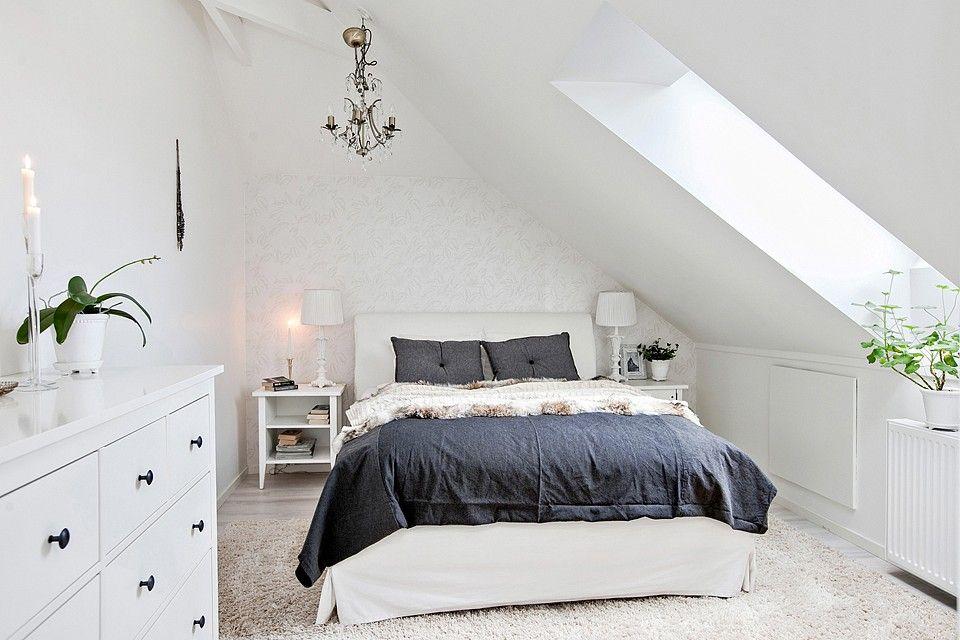 Mala Sypialnia Pod Skosem Bedroom Dekoracje Do Sypialni