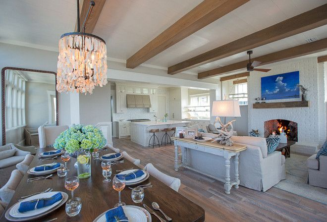 Beach House With Airy And Open Layout In Main Living Area Openfloorplan Taylor And Kelly Interiors Coastal Interiors Interior Floor Plan Farmhouse Interior Open concept beach house