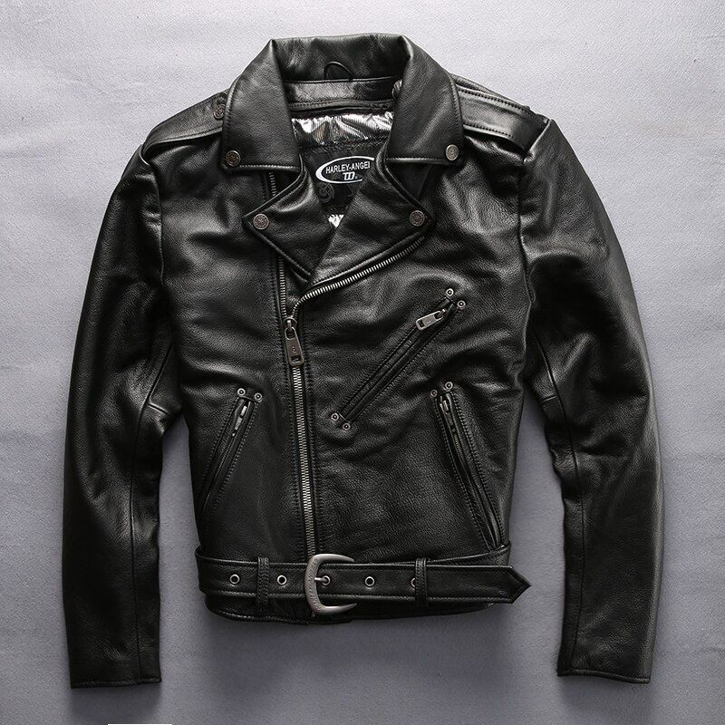 DHL Free Shipping Men's Genuine Leather Jackets Top