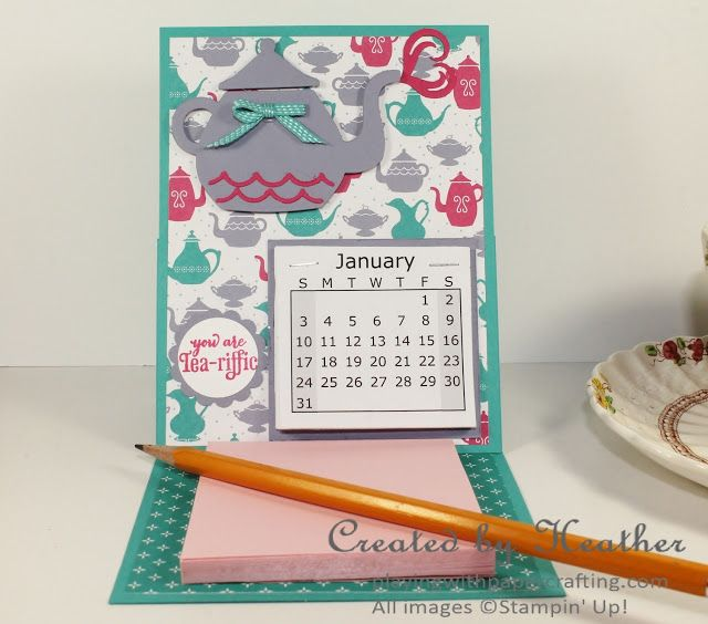 Playing with Papercrafting Cups  Kettle Calendar Easel CALENDARS