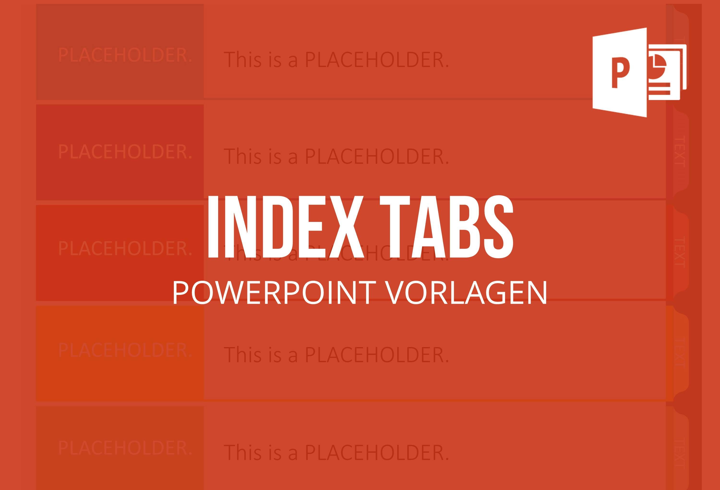 this set of pre-designed index tab templates for powerpoint helps, Powerpoint templates