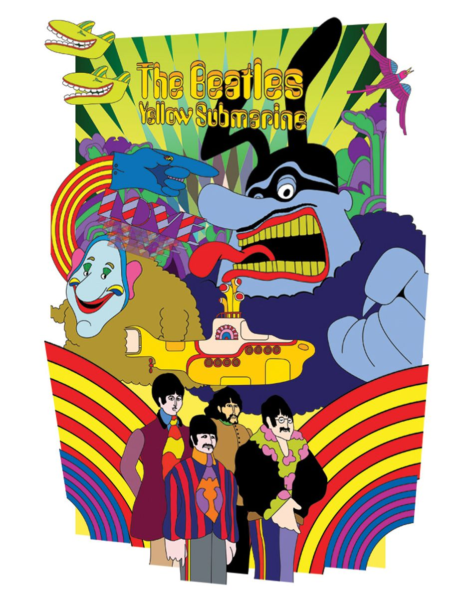 Обои The beatles, sgt. peppers lonely hearts club band, yellow submarine. Музыка foto 14