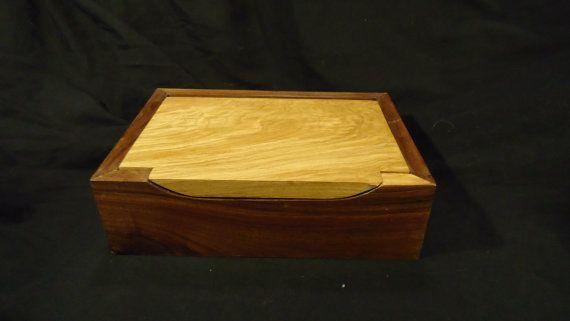 Walnut and White Oak Box by BnVShop on Etsy, $64.99