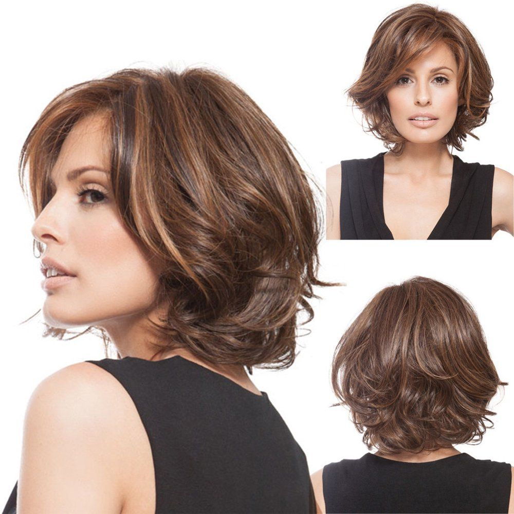 Iuhan Women's Full Wig Short Wig Curly Wig Styling