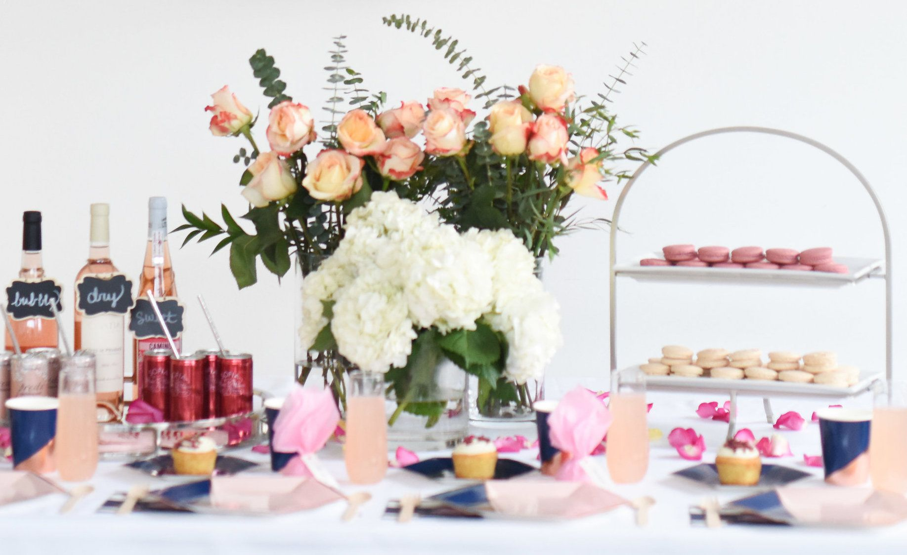 We Love Rose Rose All Day Party Decorations Celebrated Rose Gold Party Gold Party Wine Party Theme