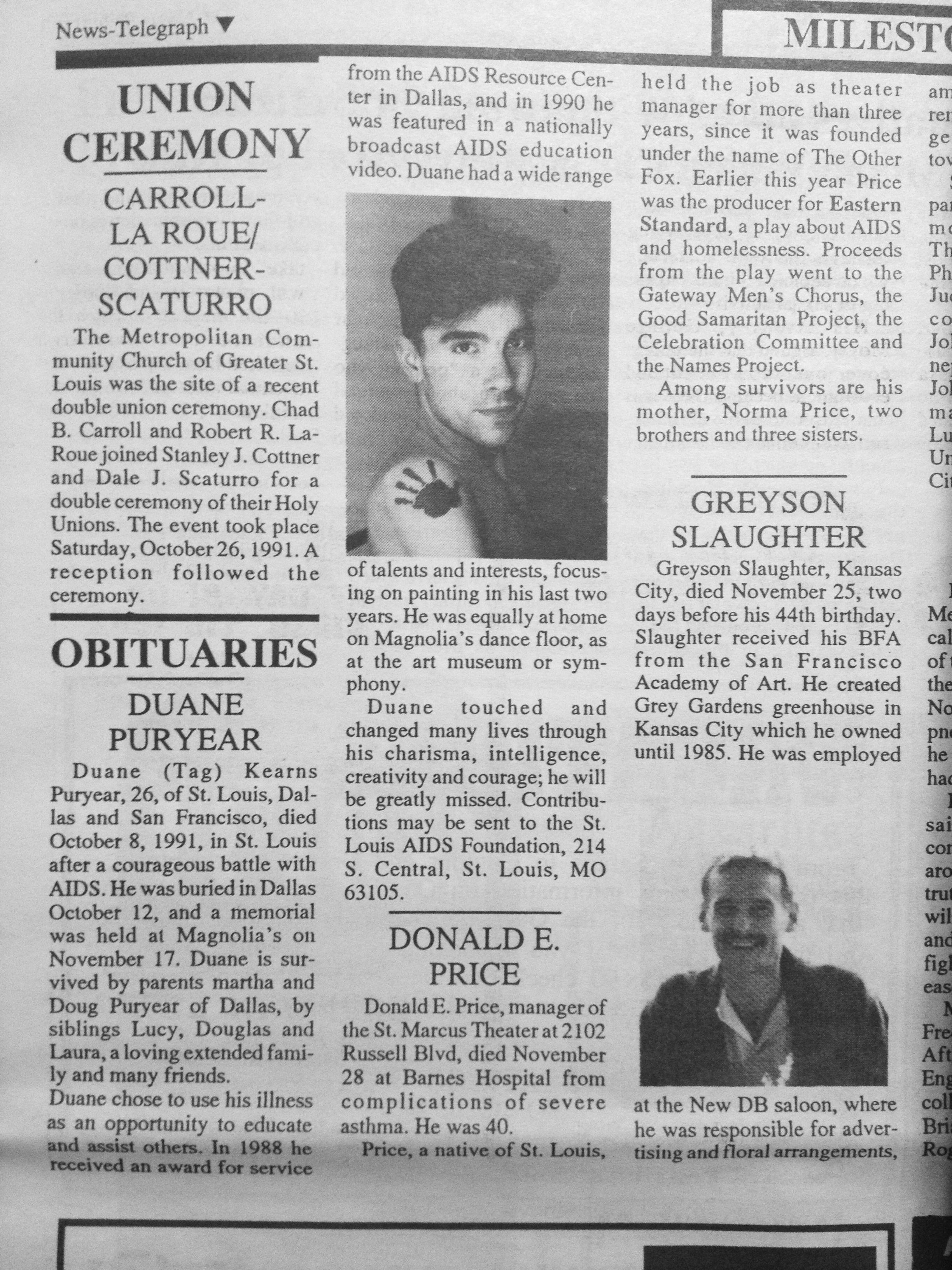 Gay and lesbian news telegraph
