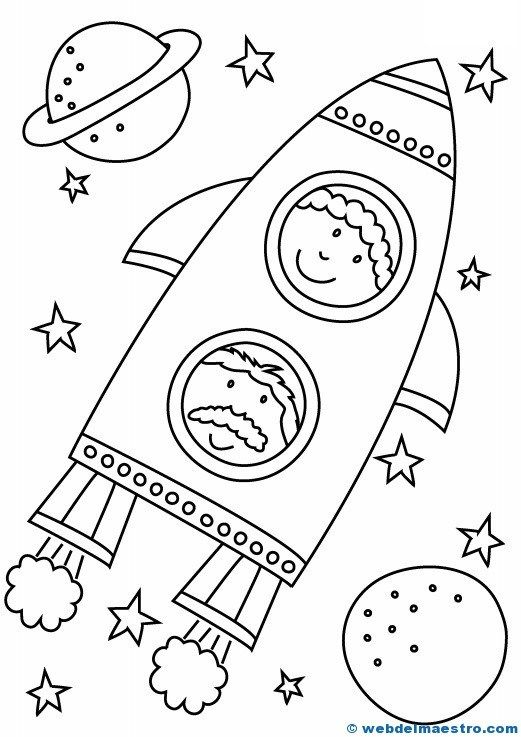 kids space themed coloring pages for kids | Dibujos para colorear | kids | Space coloring pages, Space ...