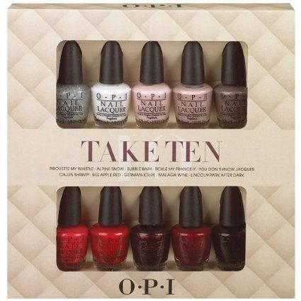 Opi Nail Lacquer 10 Piece Set Take Ten Mini Kit Polish Beauty