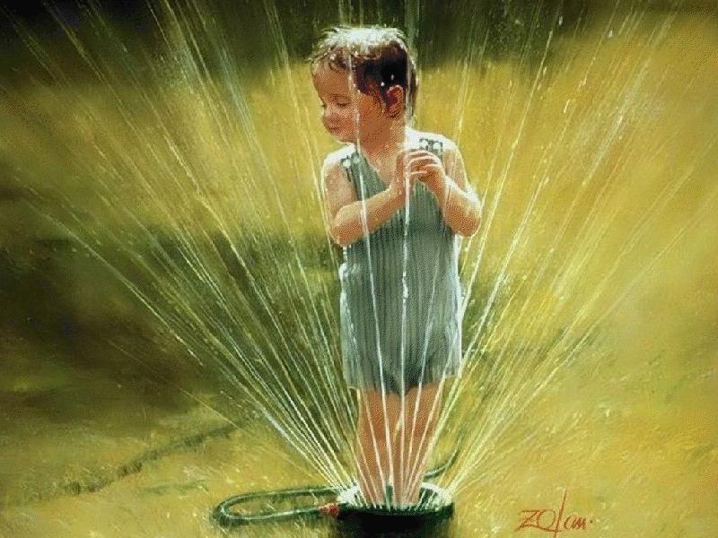 Imágenes que retratan la inocencia propia de la niñez.