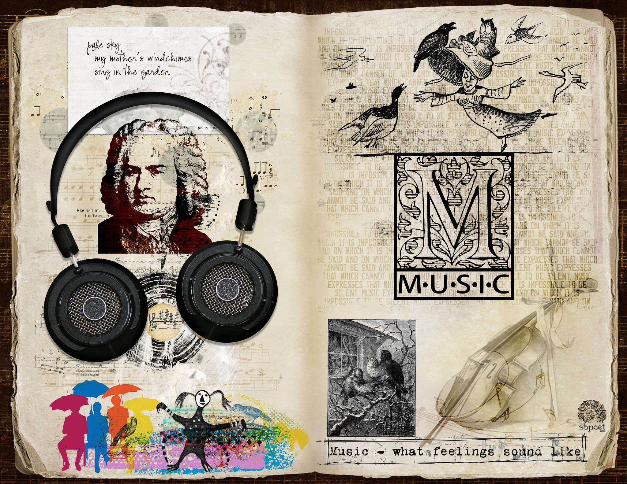 https://flic.kr/p/Pao1GU | [GRATITUDE] MUSIC & SOUND |   Am I doing well? Yes? I must be listening to music. Am I doing poorly? I need to listen to music!  For 30 Days of Gratitude, an art journaling challenge at The Lilypad. Elements from Irene Alexeeva, Quirky Heart, Antique Images, Vicki Robinson, Tangie Baxter, Paula Kesselring, Manu, RoseyPosey, Laitha, manishmansinh, Rebecca McMeen, Anna Aspnes, TlcCreations, and Ali Edwards. #artjournal #digitalartjournaling #digitalart #the_lilypad