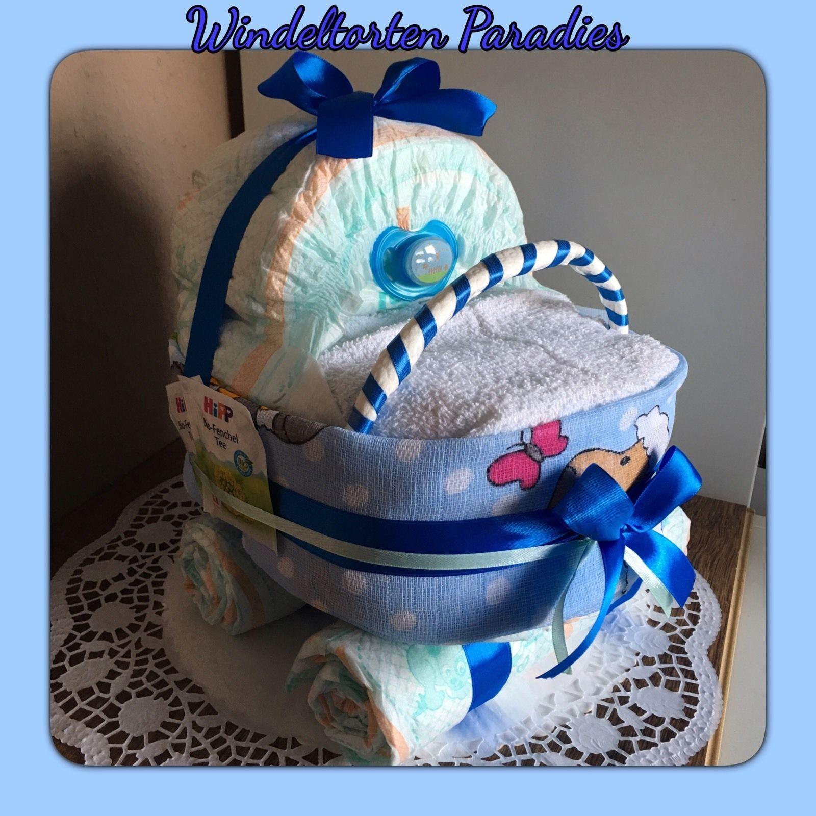 windeltorte xxl kinderwagen super geschenk zur taufe geburt oder babyparty windeltorte