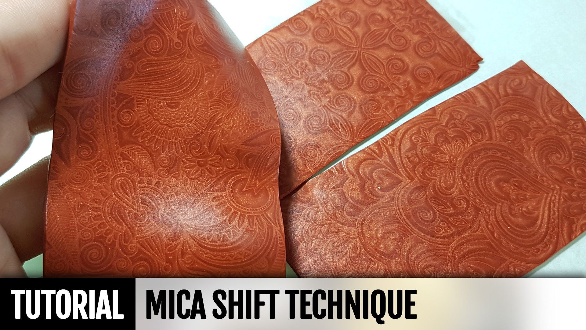 Polymer Clay Technique - Mica Shift. FREE Video Tutorial. How to make | ...