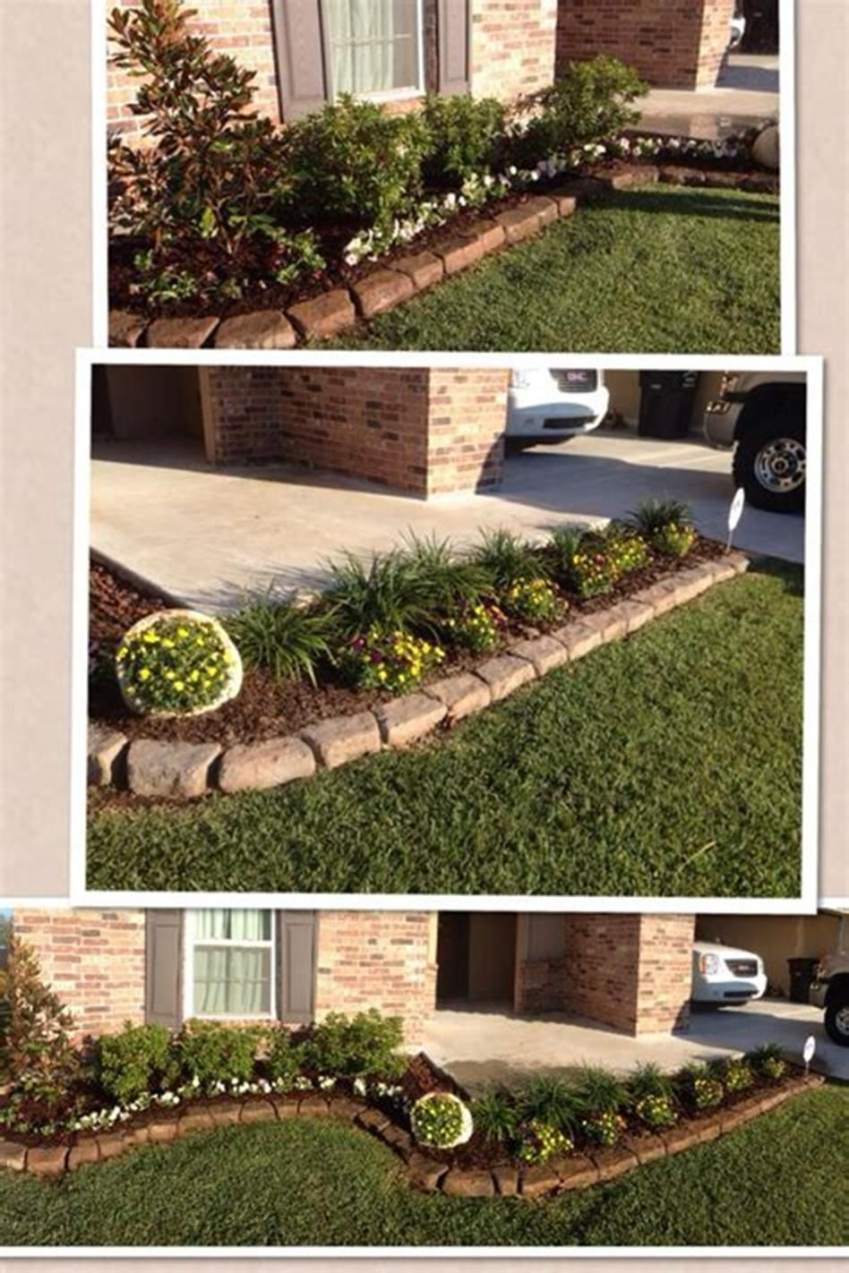 45 best and cheap simple front yard landscaping ideas - Cheap flower bed ideas ...