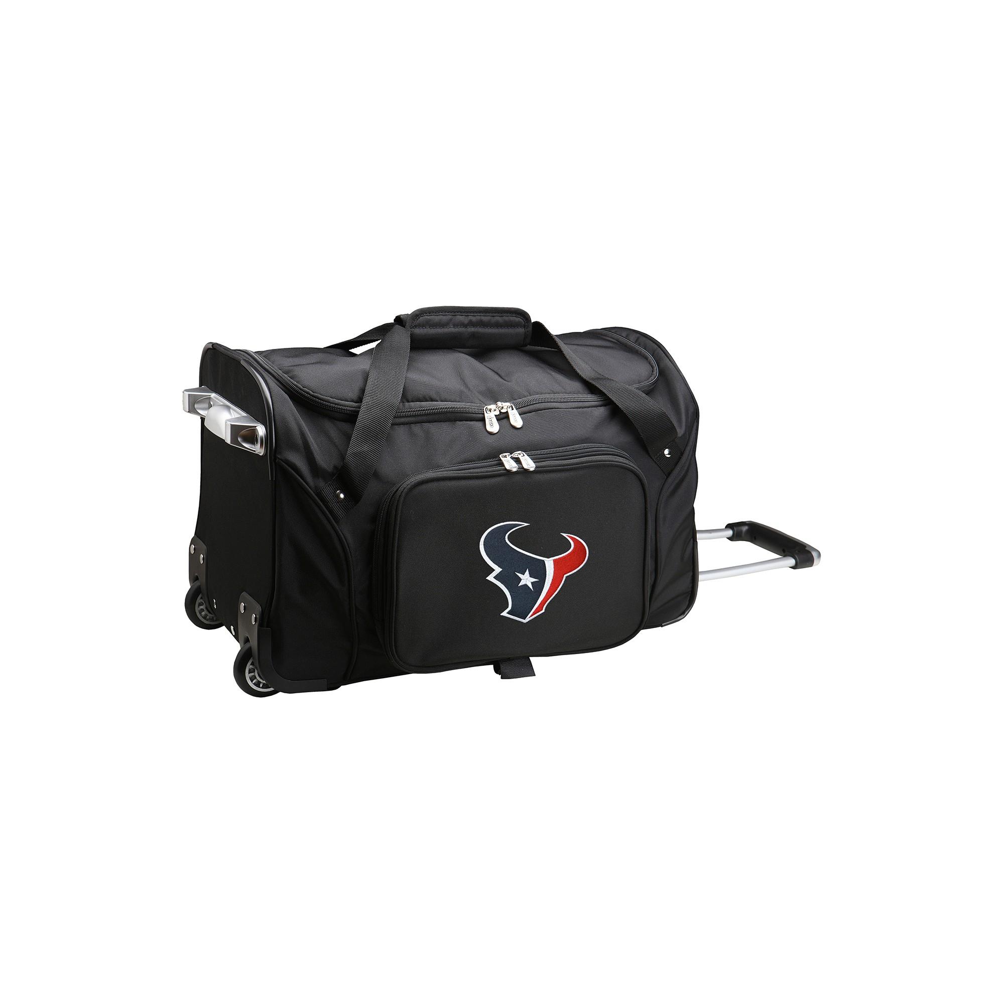 Nfl Houston Texans Mojo 22 Rolling Duffle Bag