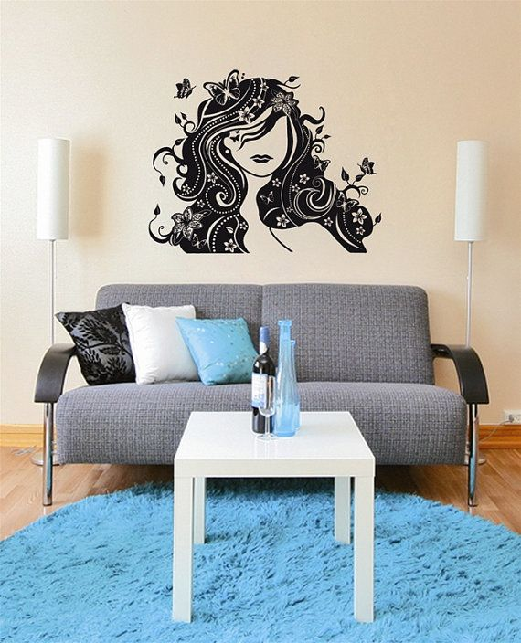 Wall Decals Wall Stickers Buttfly Fairy Lady by looksbetter ...