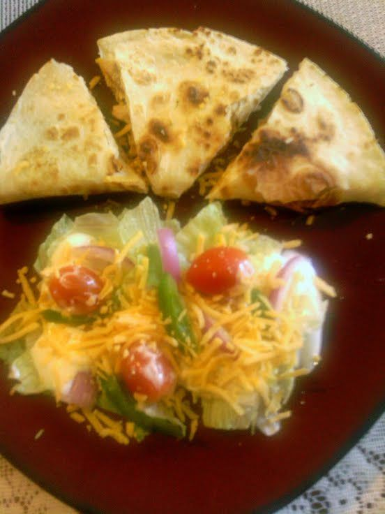 "Chicken Quesadillas! ""I love me some quesadillas""  @allthecooks #recipe #chicken #mexican #easy #quick #hot"