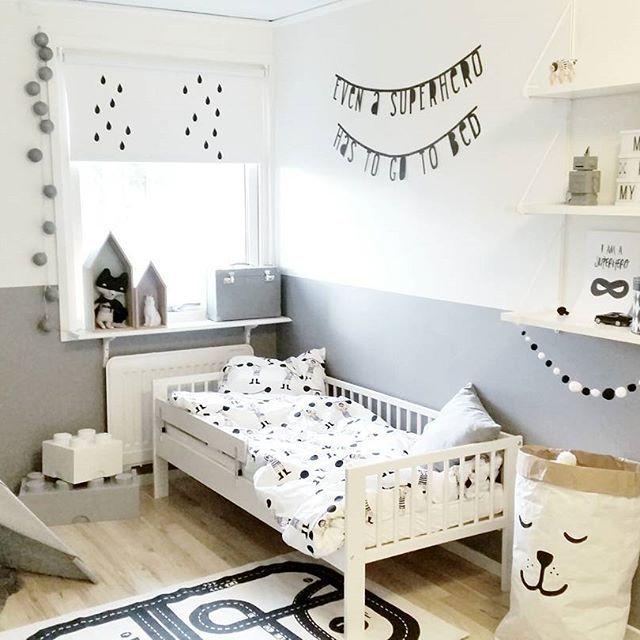 Habitaci n infantil en tonos grises original y moderna - Dormitorio infantil original ...