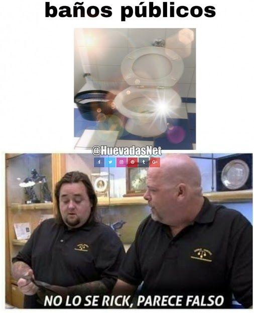 ab1dcffafe9c0131bca27c5baec302c3 un baño público limpio? no lo se rick parece falso v memes