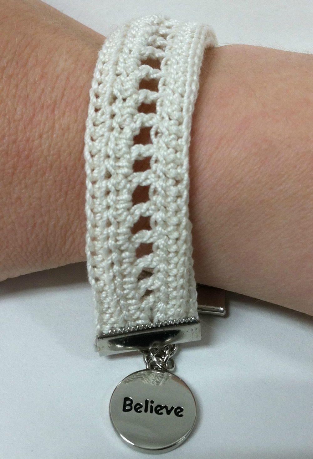 Inspired Charms Crochet Bracelet Diy Jewelry Crochet Crochet