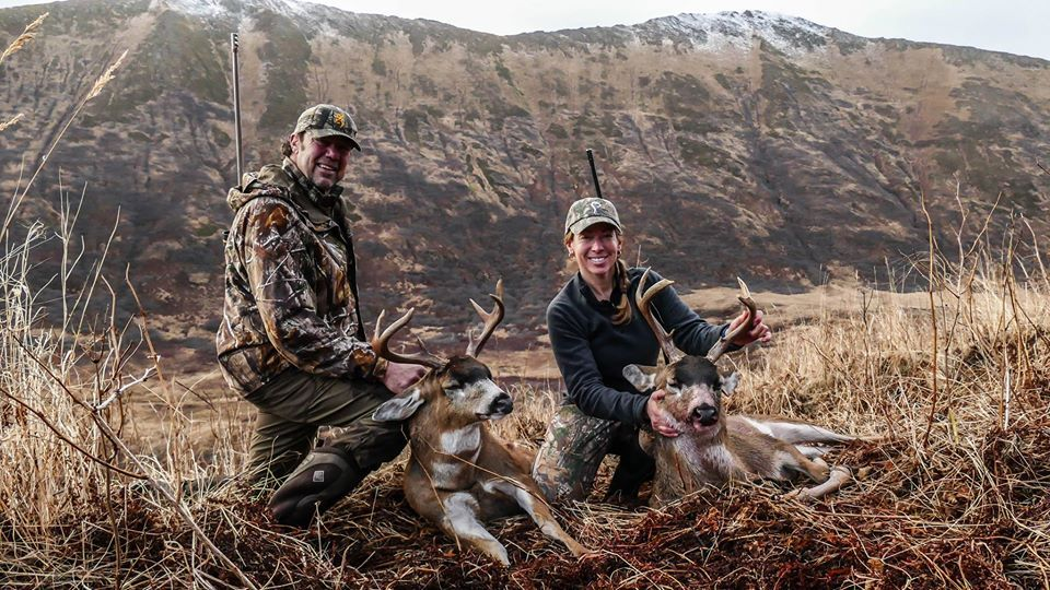 Prois Staffer, Ruth Cusack & husband Louis, have a successful blacktail hunt! #proiswasthere  Check out our performance hunting gear for women at www.proishunting.com