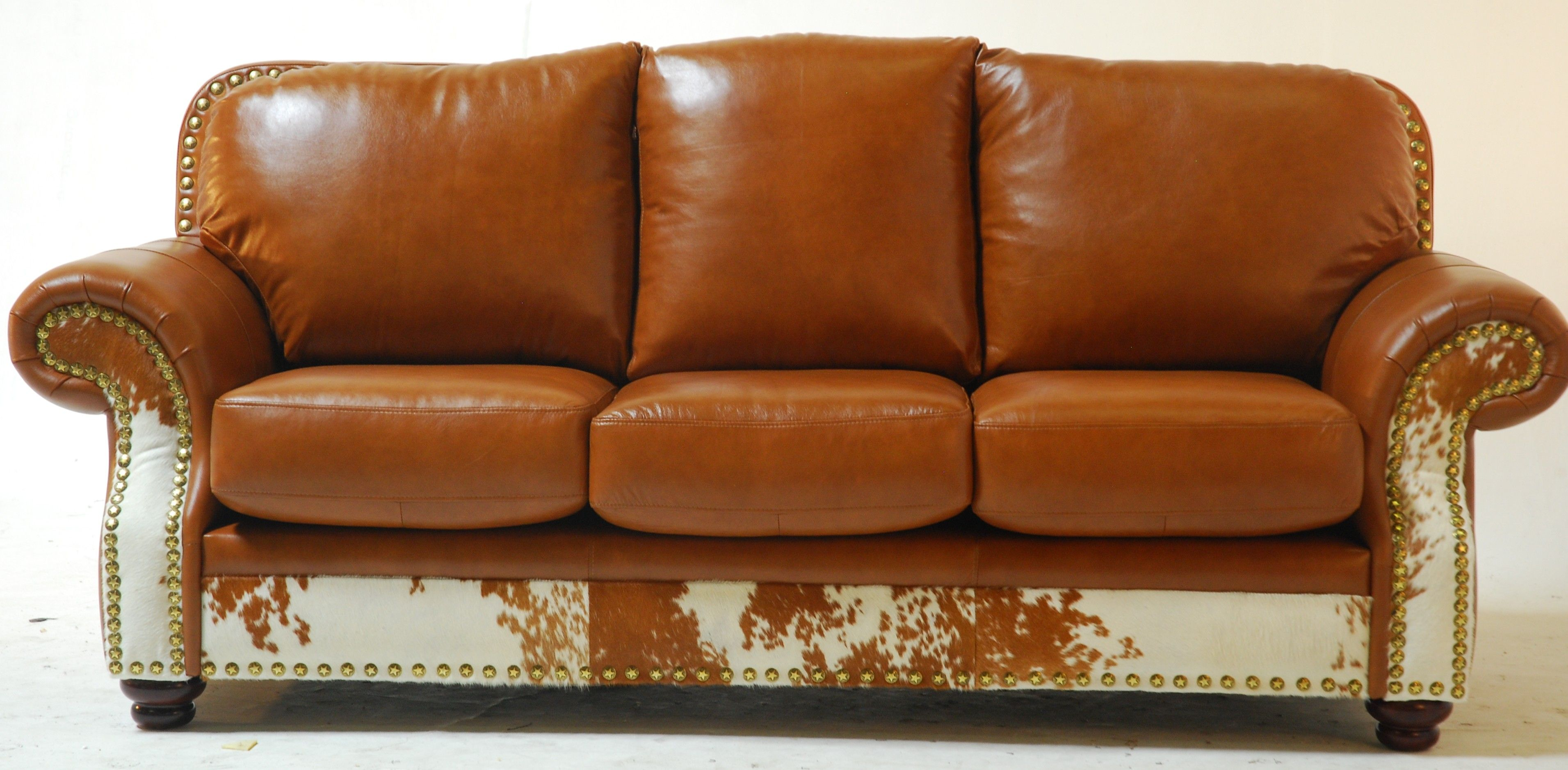 Cowskin Leather Couch From Slick Rock Designs Orange Leather