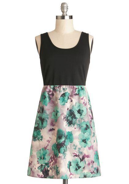 Tulle Clothing Paint of Heart Dress   Mod Retro Vintage Dresses   ModCloth.com - DRESS on InStores