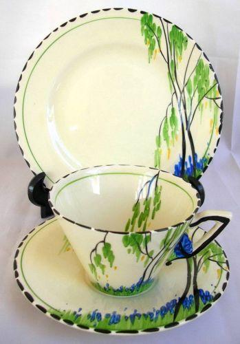 Burleigh Tea set trio. Zenith Bluebell pattern (No. 4829)