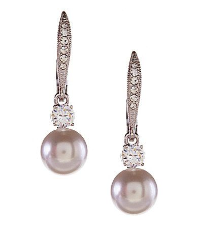 Nadri Faux Pearl Drop Earrings