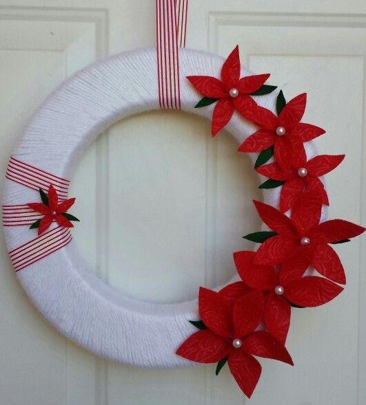 ~Poinsettia Christmas Wreath~