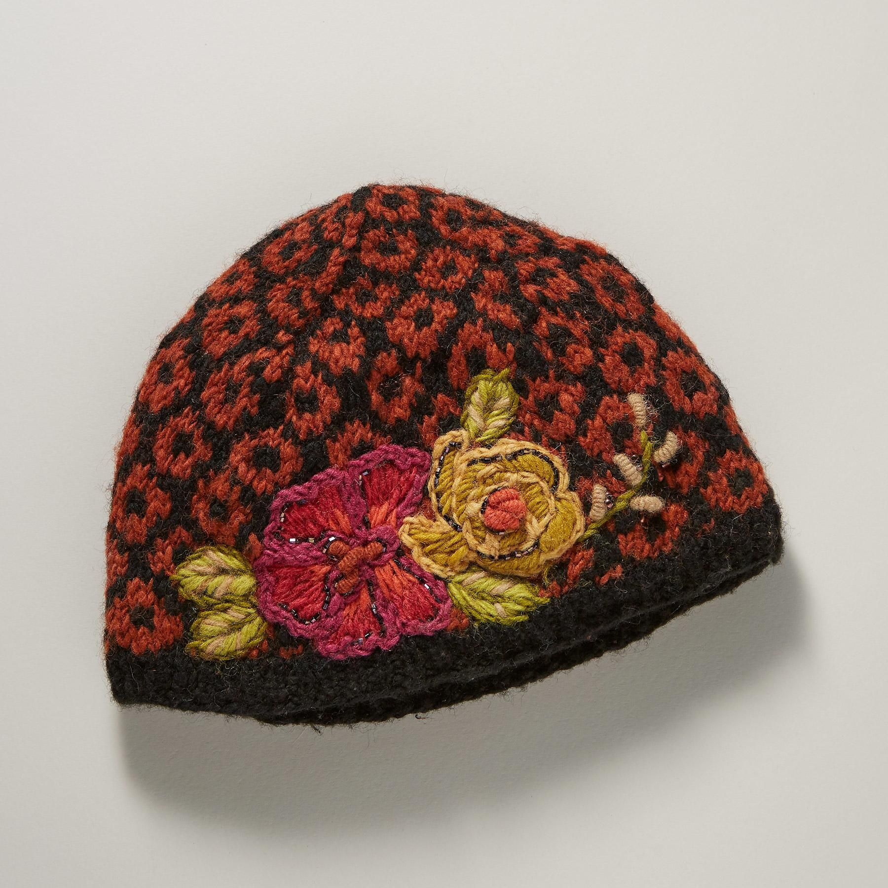WREN SONG HAT -- On our floral wool hat e5c98177a08
