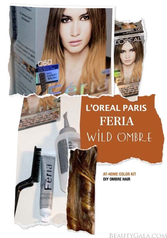 L Oreal Feria Wild Ombre Hair Kit Demo Hair Kit Ombre Hair Dyed Hair Ombre