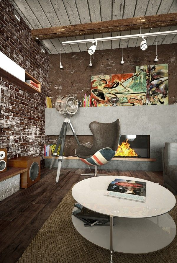 Home designing via 2 loft ideas for the creative artist