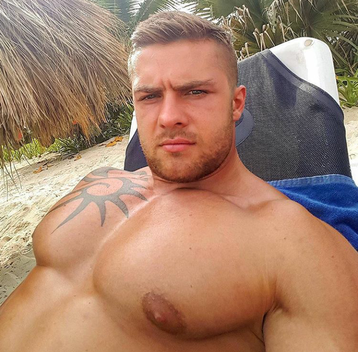 Hunks with big nipples